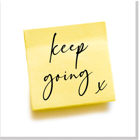 Keep going... square card