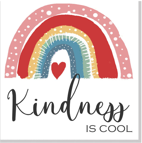 Kindness is cool Rainbow square card