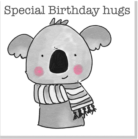 Koala Special Birthday hugs square card