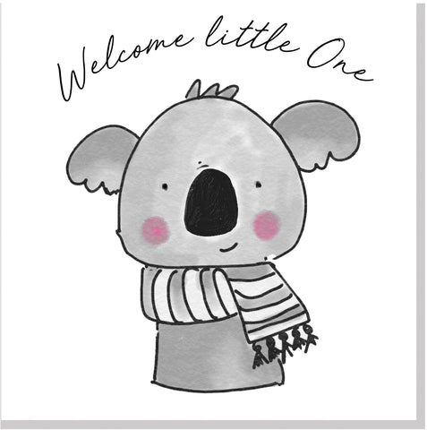 Welcome Little One Cute Jola Animals card