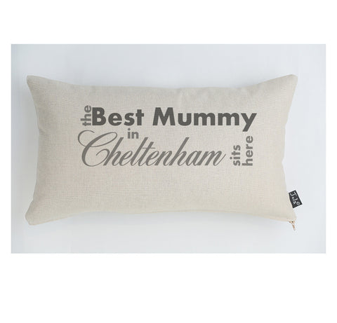 Personalised Best Mummy City cushion
