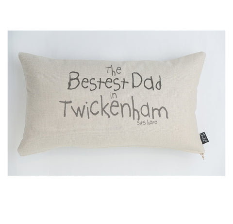 Bestest Daddy City cushion
