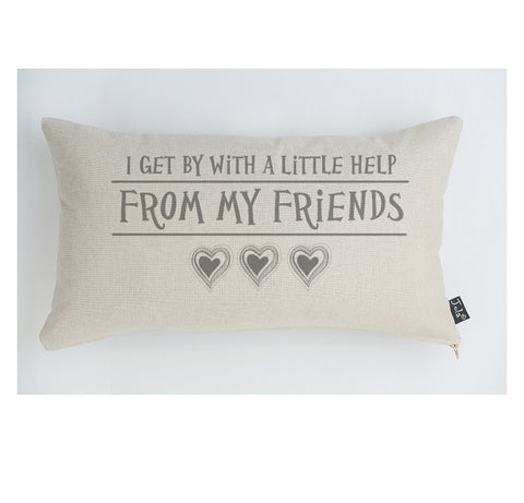 A little help from my friends large boudoir cushion