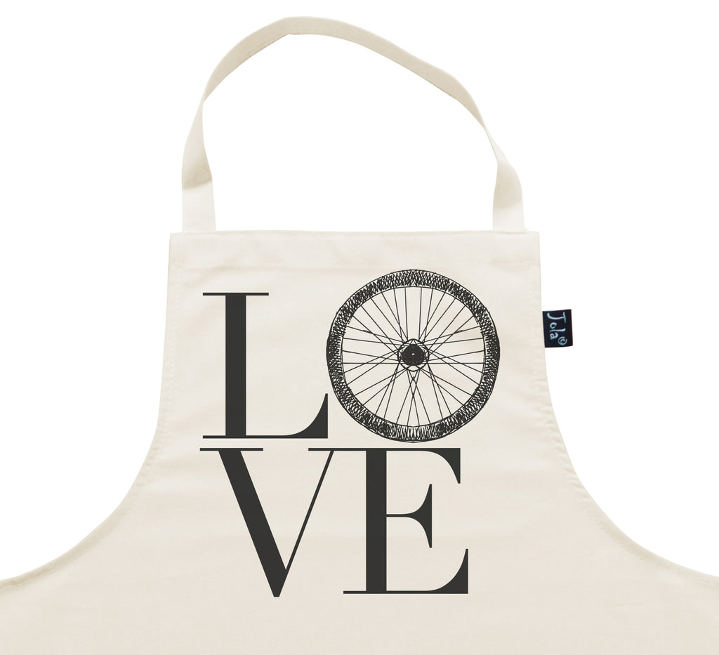 Love Bike Wheel Apron