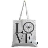 Love Bike Wheel canvas bag
