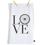 Love Bike Wheel tea towel
