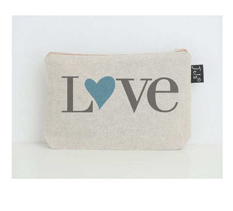Love heart small make up bag