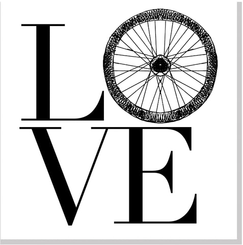 Love Wheel square card