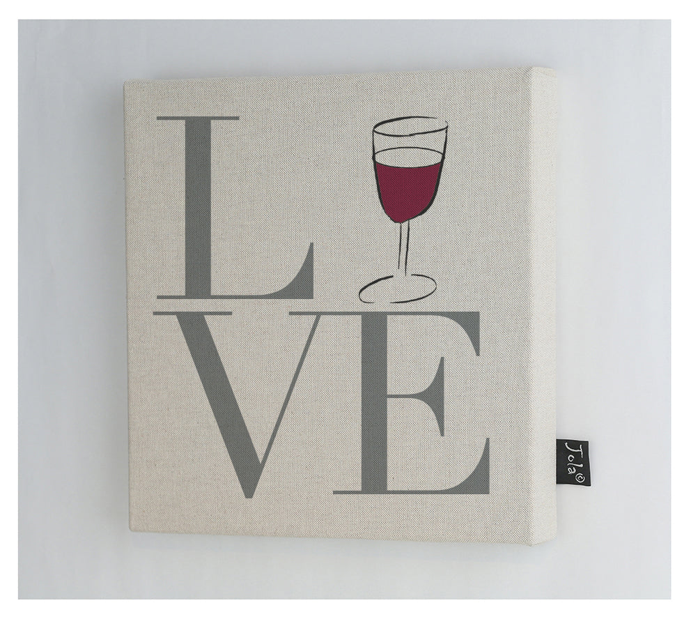 Love wine canvas frame