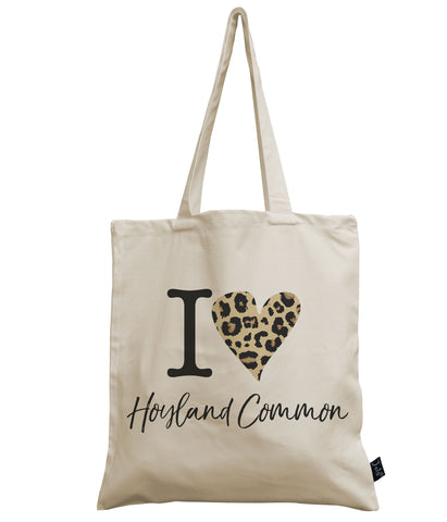 Personalised City Leopard Heart canvas bag