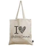I Love City Personalised Leopard canvas bag
