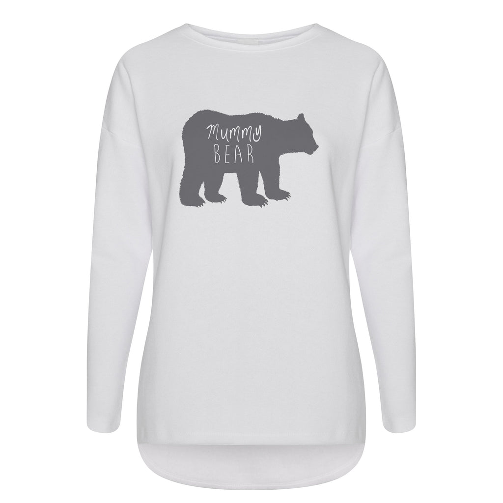 Cotton Slouch Sweatshirt Mummy Bear