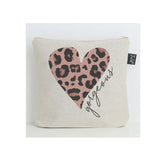 Gorgeous Leopard Heart washbag Pink