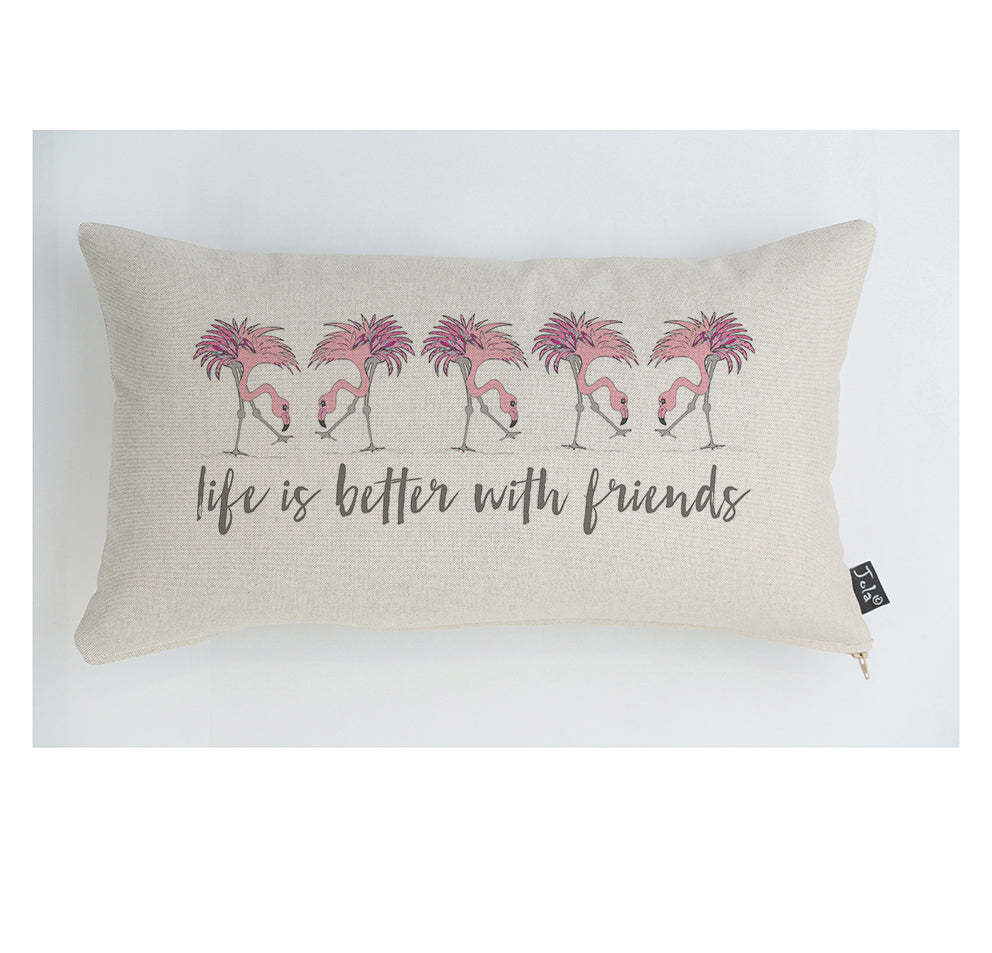 Flamingo Friends cushion