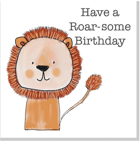 Have a Roar-some Birthday Lion square card