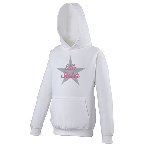 Cotton Kids Hoodie Little Sister Star