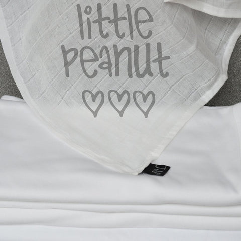 Little Peanut Muslin Square