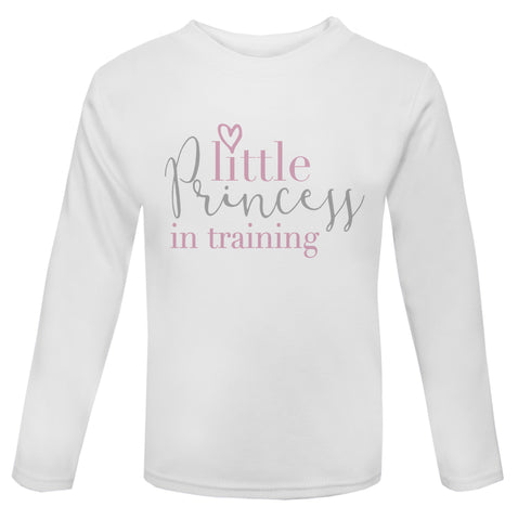 Little princess in training long sleeve Toddler T Shirt