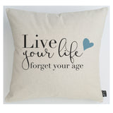 Live your life blue hearts Cushion