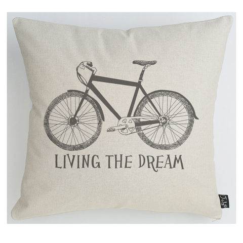 Living the Dream Bike large cushion