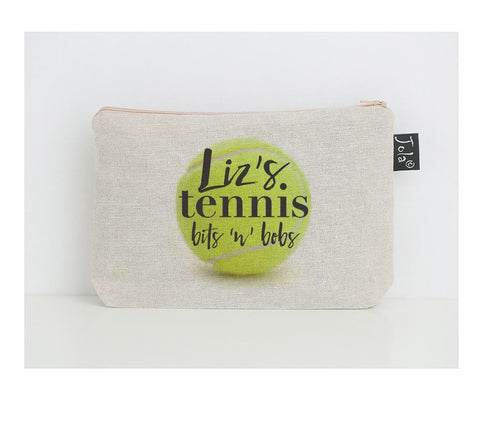 Personalised Tennis small make up bag