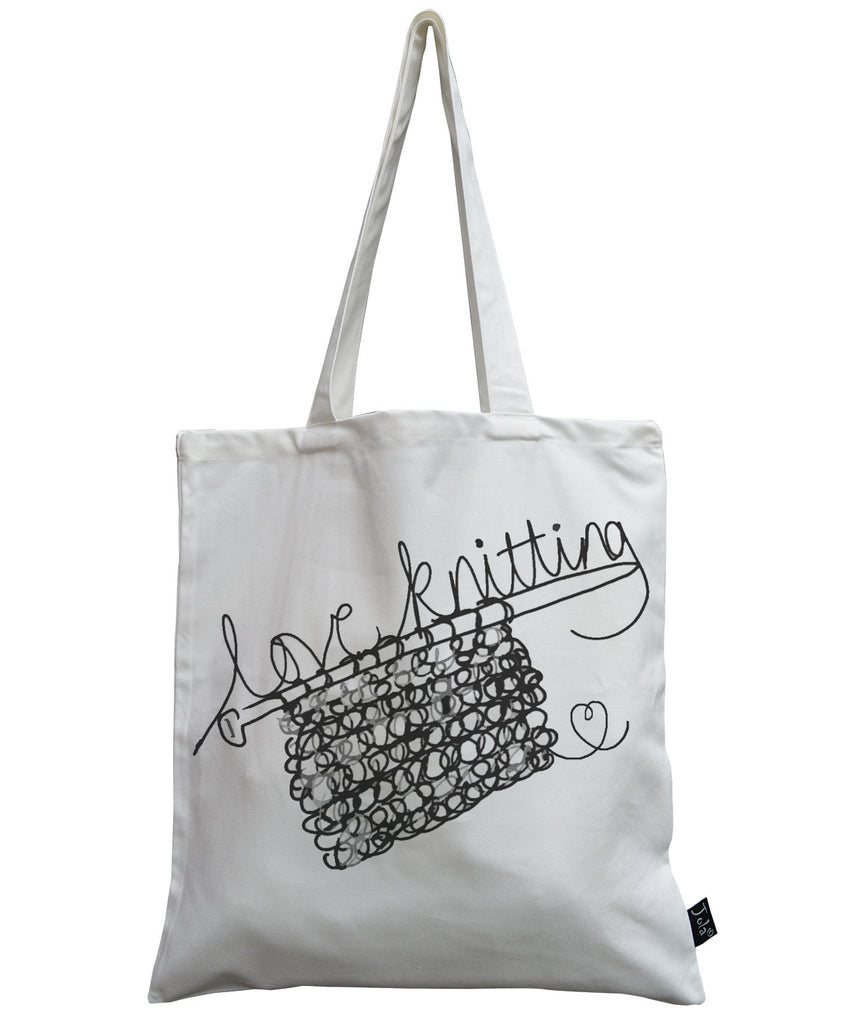 Love Knitting canvas bag