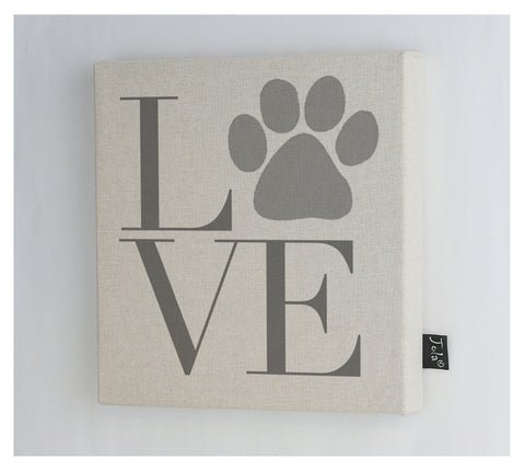 Love Paw Canvas frame