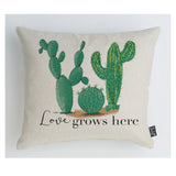 Love grows here cactus cushion
