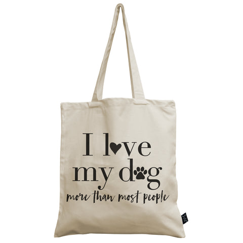 I love my Dog canvas bag