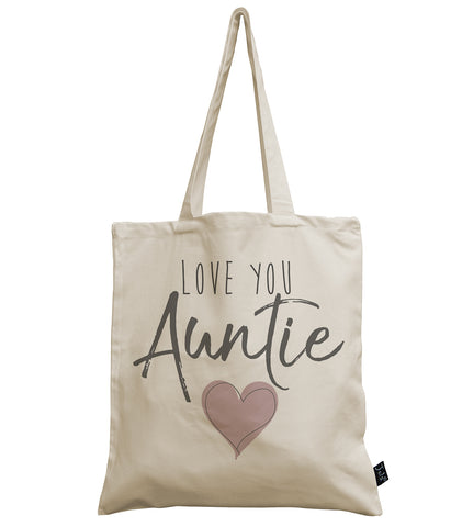 Love you Auntie canvas bag