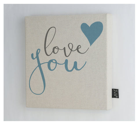 Love you blue heart Canvas frame