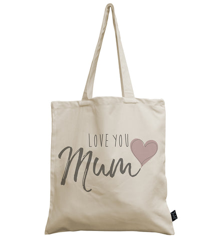 Love you Mum canvas bag