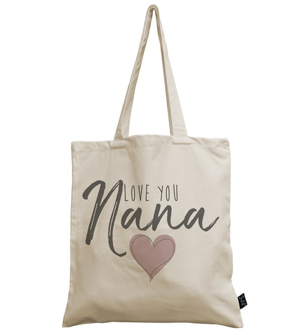 Love you Nana canvas bag