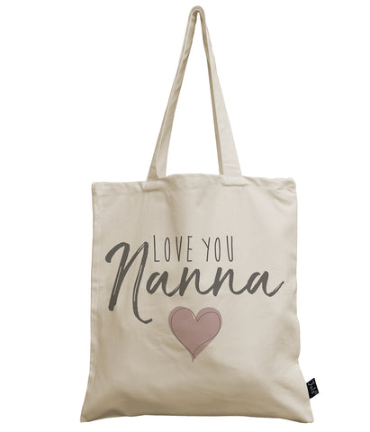 Love you Nanna canvas bag