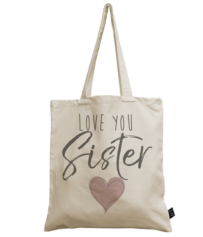 Love you Sister canvas bag