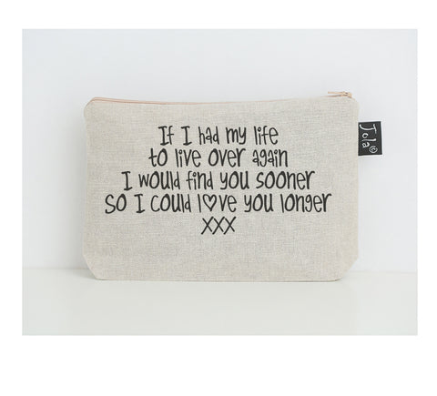 Love you longer small make up bag