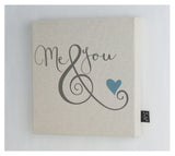 Me & You ampersand Canvas frame