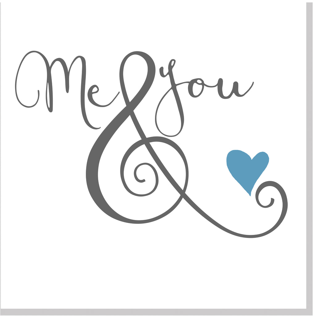 Me & You ampersand square card