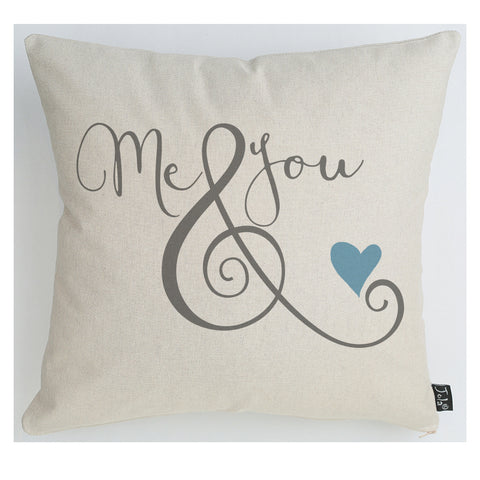 Me & You ampersand cushion