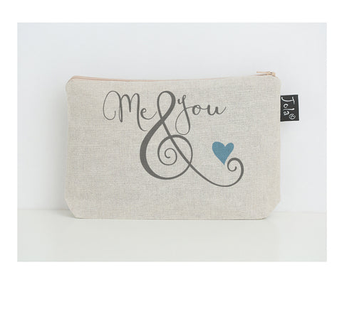 Me & You ampersand small make up bag