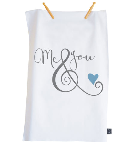 Me & You ampersand tea towel