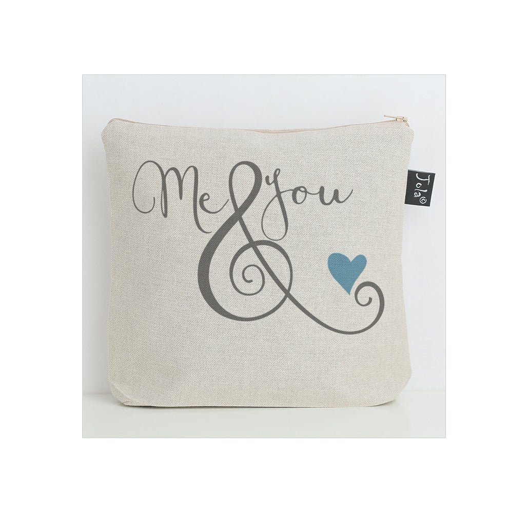 Me & You ampersand washbag