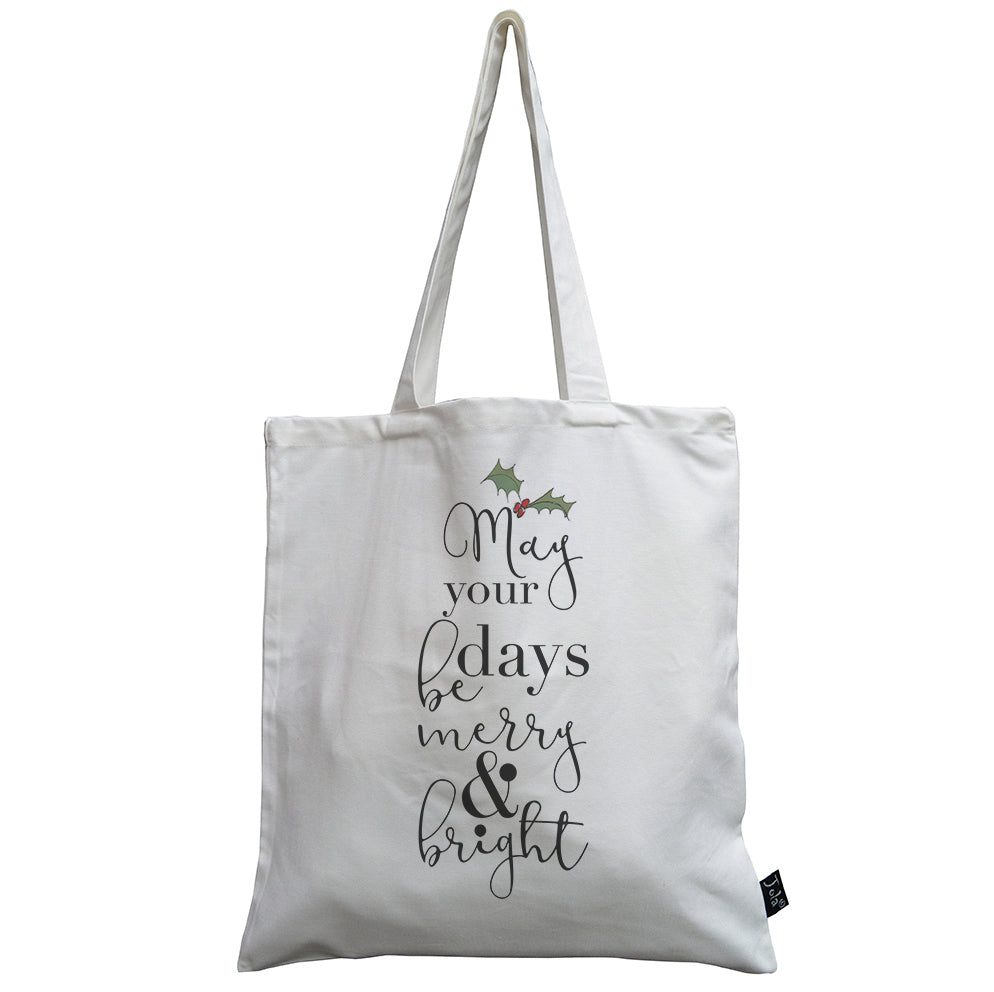 Merry & Bright canvas bag