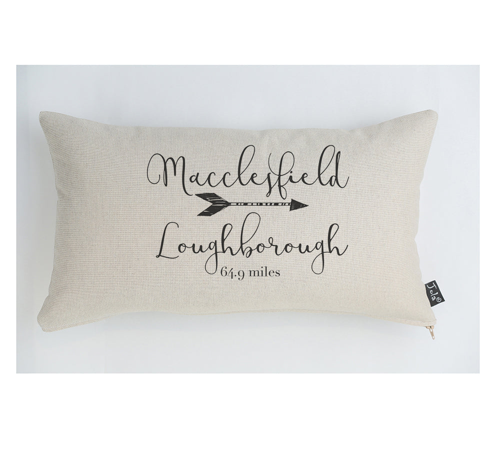 Personalised Mileage Cushion