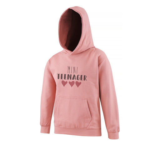 Mini Teenager Toddler Hoodie Dusty Pink