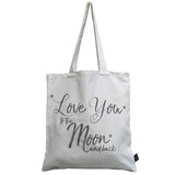 Moon & Back canvas bag