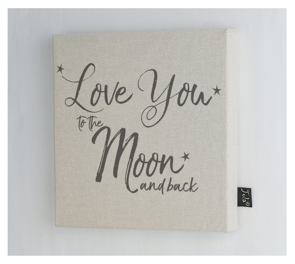 Love you to the Moon & Back Canvas frame