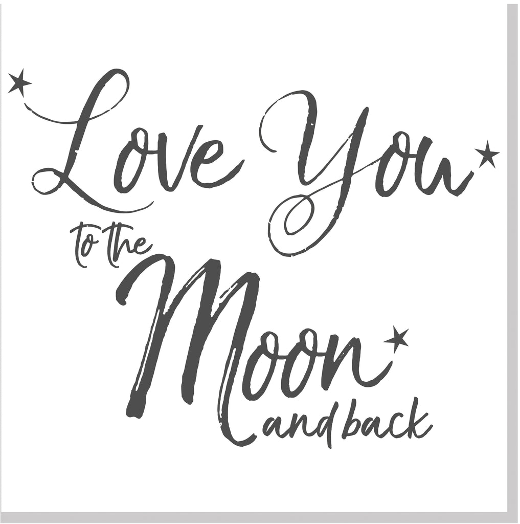Love you to the moon & back square card