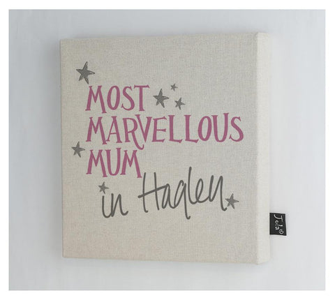 Personalised Most Marvellous Mum Canvas Frame