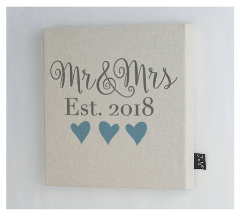 Mr & Mrs Wedding canvas Frame
